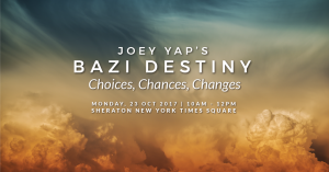 Joey Yap NYC EVENT BAZI